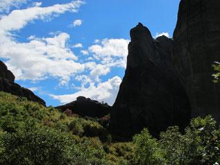 wechselnde Fels-Formationen