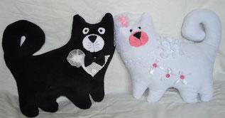 Свадебные кошки -подушки