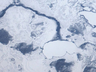Sub-arctic frozen lake