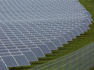 Photovoltaik-Großanlage. Foto: David Ebener/Archiv