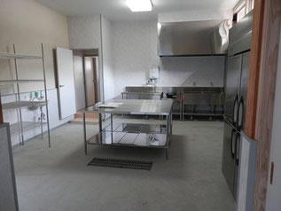 老人憩の家を改装して出来た、地域農産物加工所。