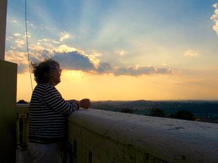 vom Balkon des Denkmals aus hatten wir einen wunderbaren Blick