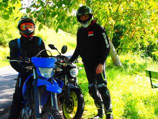 Ina und Bernd zwei sympathische Motor-Biker