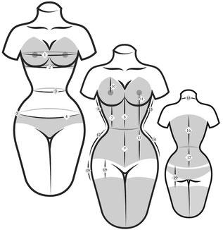 sur mesure mensuration prise de mesure bespoke made to mesure corsetière