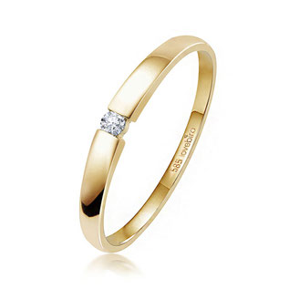 Spannring mit Brillant 0,03 ct. Gold 585/000 LB125