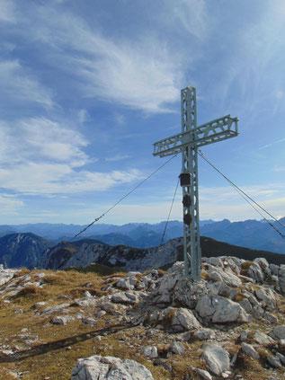 Hoher Nock - Gipfel nach dem Aufstieg vom Kremstal, von der Region Pyhrn Priel