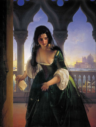 "F. Hayez, ""Accusa segreta"" (1847-1848)"