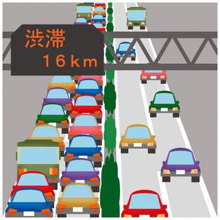 年末の交通渋滞 イメージ