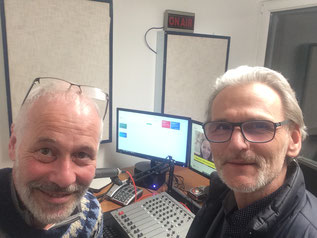 Stefan Keller und Gerhard Pellegrini im Radio SOL Studio Wien