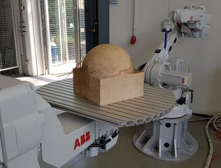 Laborroboteraufbau des Projekts AuDeKa am Mechatronik Institut Bocholt