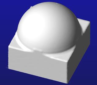 Aus der Punktwolke generierte Oberflächen