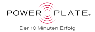 Grafik: Logo von POWER PLATE, Partner von beauty conture - Permanent Make Up, Hamburg