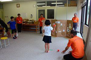共催として参加した「社協わんぱく子ども祭」射的コーナー