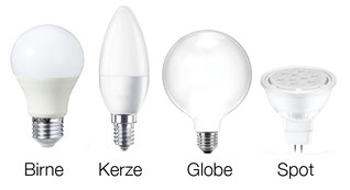 LED Lampen Formen
