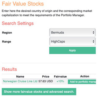 Small Fair Value Screener