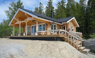 Gemütliches Rundbohlenhaus als Singlehaus