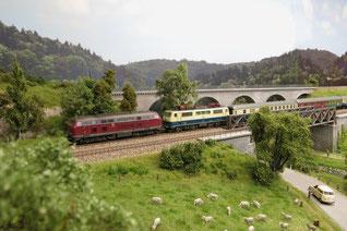 Zugverkehr in Buchenhüll und Mindelstein