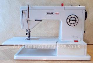 Pfaff 1222, Automatik-Freiarmnähmaschine mit Einbaumotor, Hersteller: G.M. Pfaff AG, Nähmaschinenfabrik, Kaiserslautern, Baujahr 1968 (Bilder: Nähmaschinenverzeichnis)