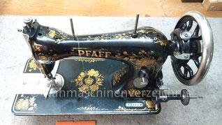Pfaff H, Geradestichnähmaschine mit CB-Greifer, Fußantrieb, Baujahr ca. 1907, Hersteller: G. M. Pfaff AG, Kaiserslautern (Bilder: T. Bauer)