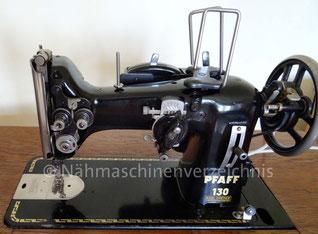 Pfaff 130, Flachbettnähmaschine mit Musterautomatik, Hersteller: G. M. Pfaff AG, Kaiserslautern, Baujahr 1951 (Bilder: C. Schmitt)
