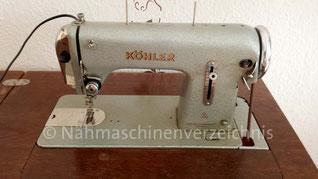 Köhler Klasse 22, Geradestich, Flachbettnähmaschine, Seriennummer 2692417, Hersteller: VEB-Nähmaschinenwerk Altenburg (Bilder: S. Kalies)