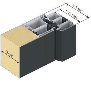 Inotherm Haustüren online Kaufen Schüco Aluminium beidseitig flügelüberdeckend innen und außen AT 110