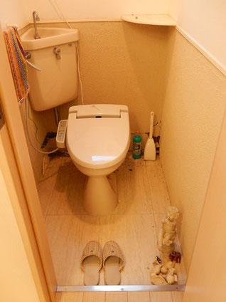 トイレの壁面が・・・