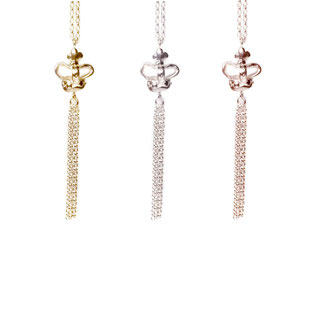 Emma Hedley Jewellery Silver Crown Tassel Necklace