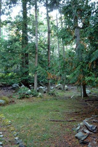 Front Yard Labyrinth, Mayne Island, BC