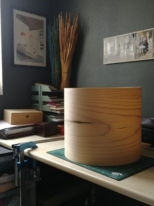 Abat-jour en bois