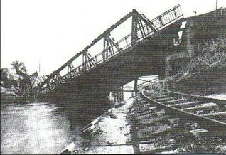 Die Altglienicker Kanalbrücke wurde im April 1945 gesprengt