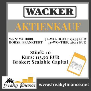 freaky finance, Wacker Chemie, Aktie, Kaufbeleg, Zahlen, Daten