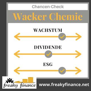 freaky finance, Wacker Chemie, Aktie, Chancen-Check, Wachstum, Dividende, ESG