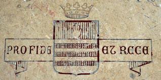 Blason et devise de Mgr Demandolx- Pour la Foi et pour le Roi