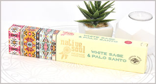 "Green Tree Native Soul Incense ""White Sage & Palo Santo"" 15gr.  2,90 €"