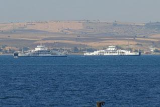 Fähren auf den Dardanellen
