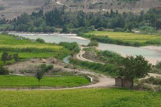 Fruchtbares Flusstal des Safid Rud
