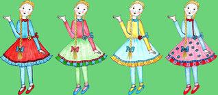 Leni in verschiedenen Kleidern