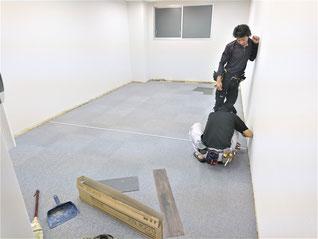 名古屋市 店舗の床張替え工事