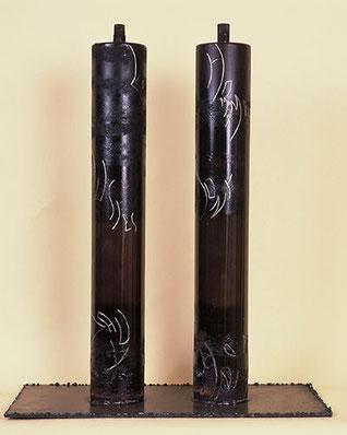 Les Justes (1997) - Acier gravé, patiné, verni - 62x40cm (Collection particulière France)
