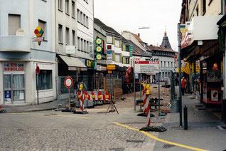 dudweiler, fussgaengerzone, bauarbeiten