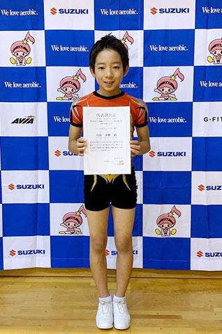 ユース1男子シングル第3位の西村泰輝