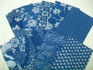 型染め大判ハンカチ(綿ローン) 各¥2,000+税
