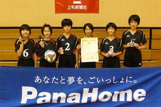 小学生準優勝の羽黒バレーボールスポーツ少年団