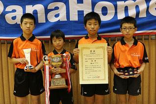 小学生男子優勝の松山TTS