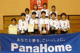 小学生優勝の真壁バレーボールスポーツ少年団