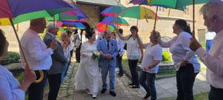 Chorprobe im Rathauspark Wendelstein