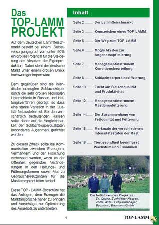 TOP-Lamm I Inhaltsverzeichnis