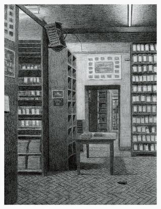a.d. Reihe Amtsgericht Hamburg-Mitte/Archiv, 31,2 x 24,0 cm, Bleistift auf Papier, 2006/07