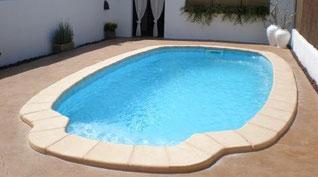 piscinas de poliester ovalada